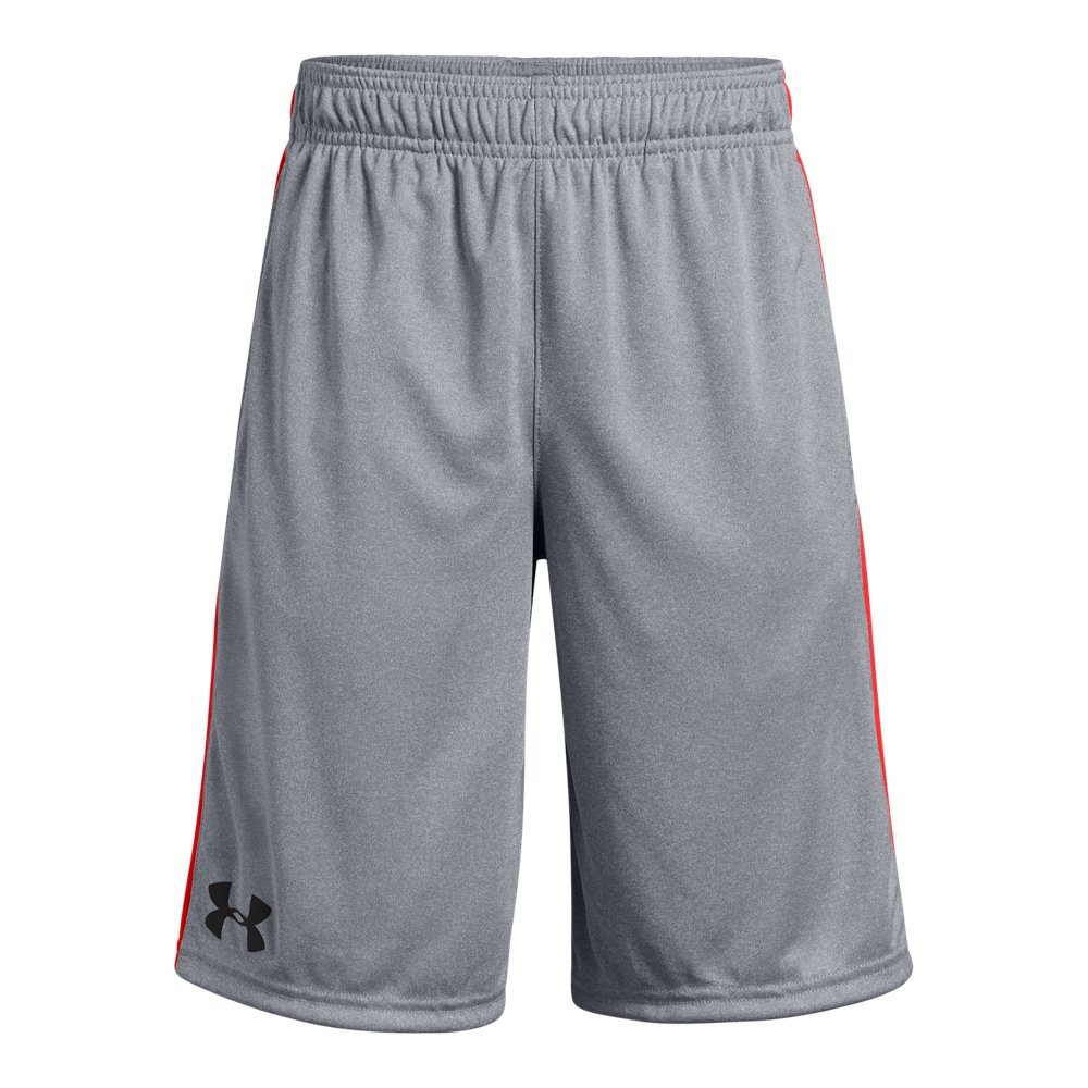 Under Armour Boys Instinct Shorts, Steel Light Heather (035)/Charcoal Youth X-Small
