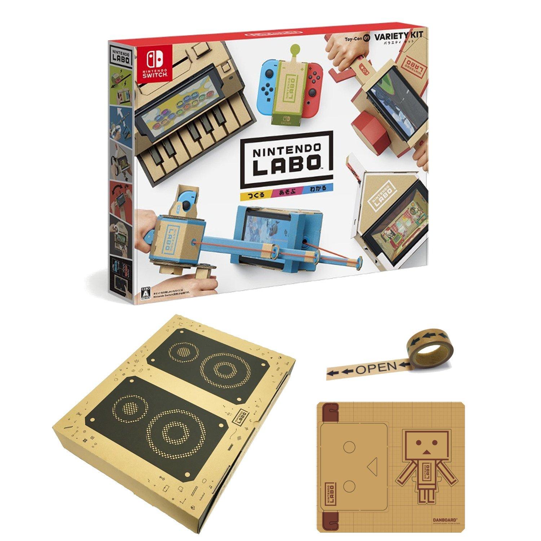 【Amazon.co.jp限定】Nintendo Labo (ニンテンドー ラボ) Toy-Con 01: Variety Kit +オリジナルマスキングテープ+専用おまけパーツセット