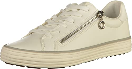Womens 23615 Low-Top Sneakers, Weiß/Silberfarben s.Oliver