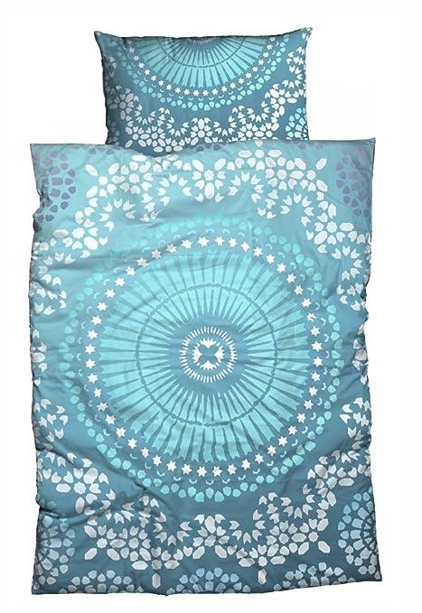 Sister S Renforce Bettwasche Casablanca Absolut Hip Ibiza Feeling Aqua Blau 155x220 Cm 80x80 Cm