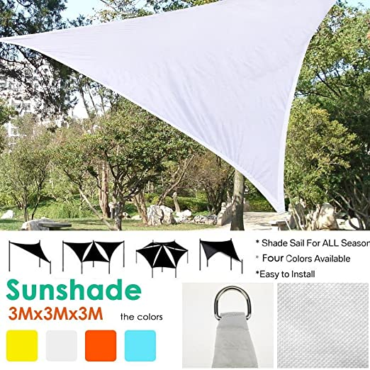 Somedays - 4 Colores para Patio de jardín, toldo para Velas de Tela de poliéster de Calidad exportada, Impermeable, Velas Triangulares: Amazon.es: Productos para mascotas