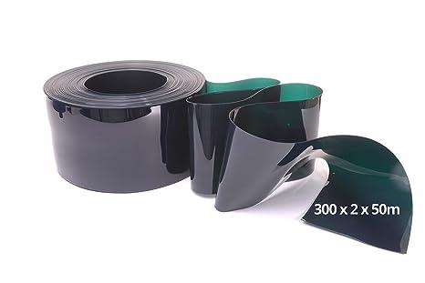 Tira de PVC rollos de 50 m - verde soldadura grado, 300mm w x 2mm x ...