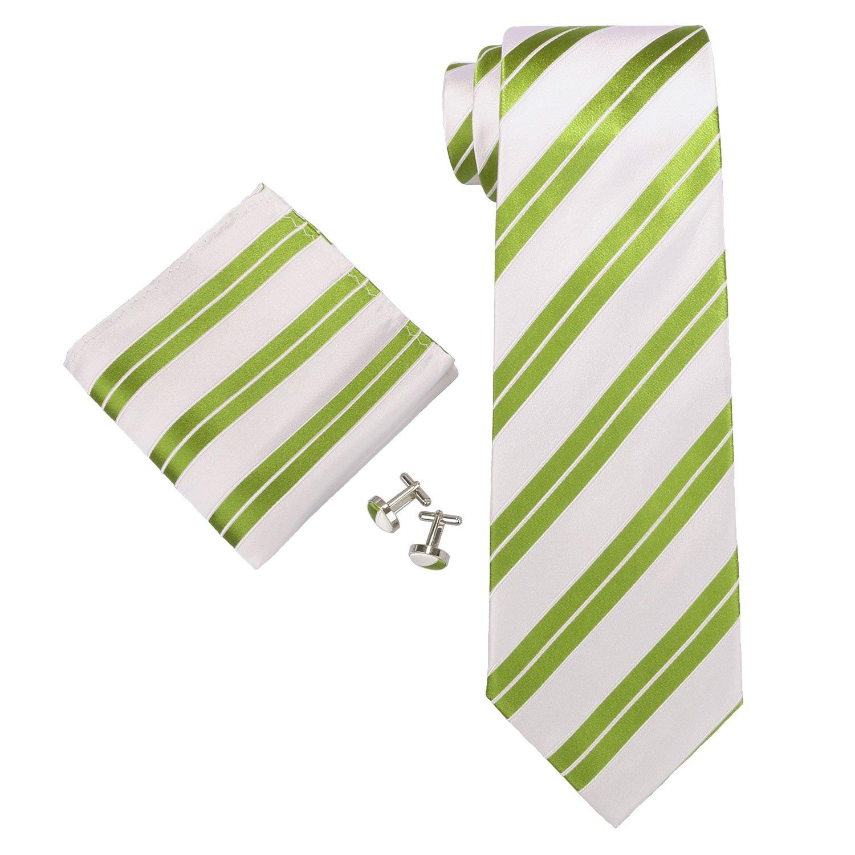 Landisun diferentes patrones de rayas para hombre corbata de seda ...