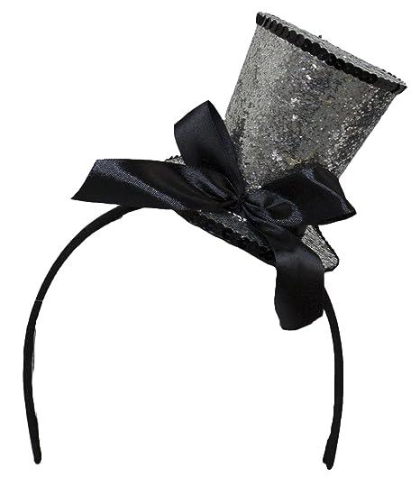 Amazon.com  Jacobson Hat Company Women s Mini Top Hat Headband with Bow 2 78dd9528e47