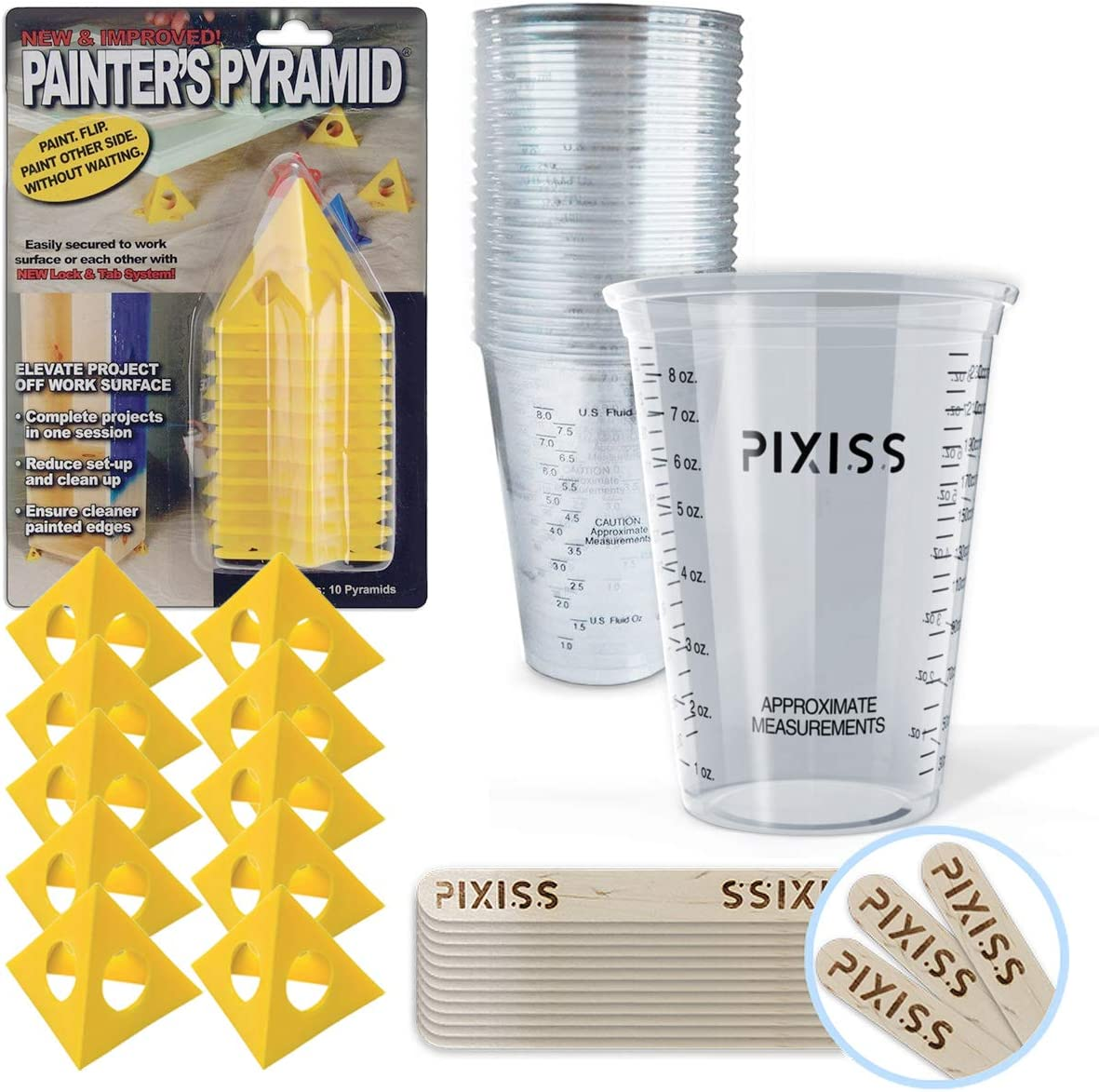 Amazon Com Painter S Pyramid Stands Kit 20x 10 Ounce Disposable