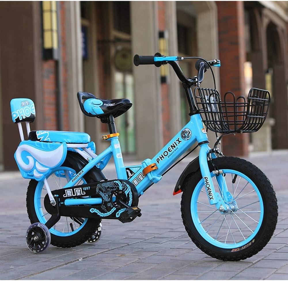 TSDS Bicicleta para niños Moda Bicicleta de montaña Bicicleta Plegable Rosa/Rojo/Azul Bicicleta al Aire Libre con Marco de Hierro: Amazon.es: Deportes y aire libre