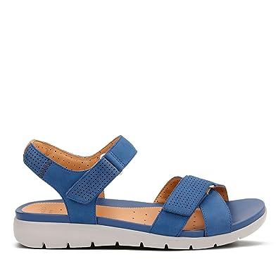 d372a33bd71 Clarks Un Saffron Nubuck Sandals in Wide Fit Size 5  Amazon.co.uk ...