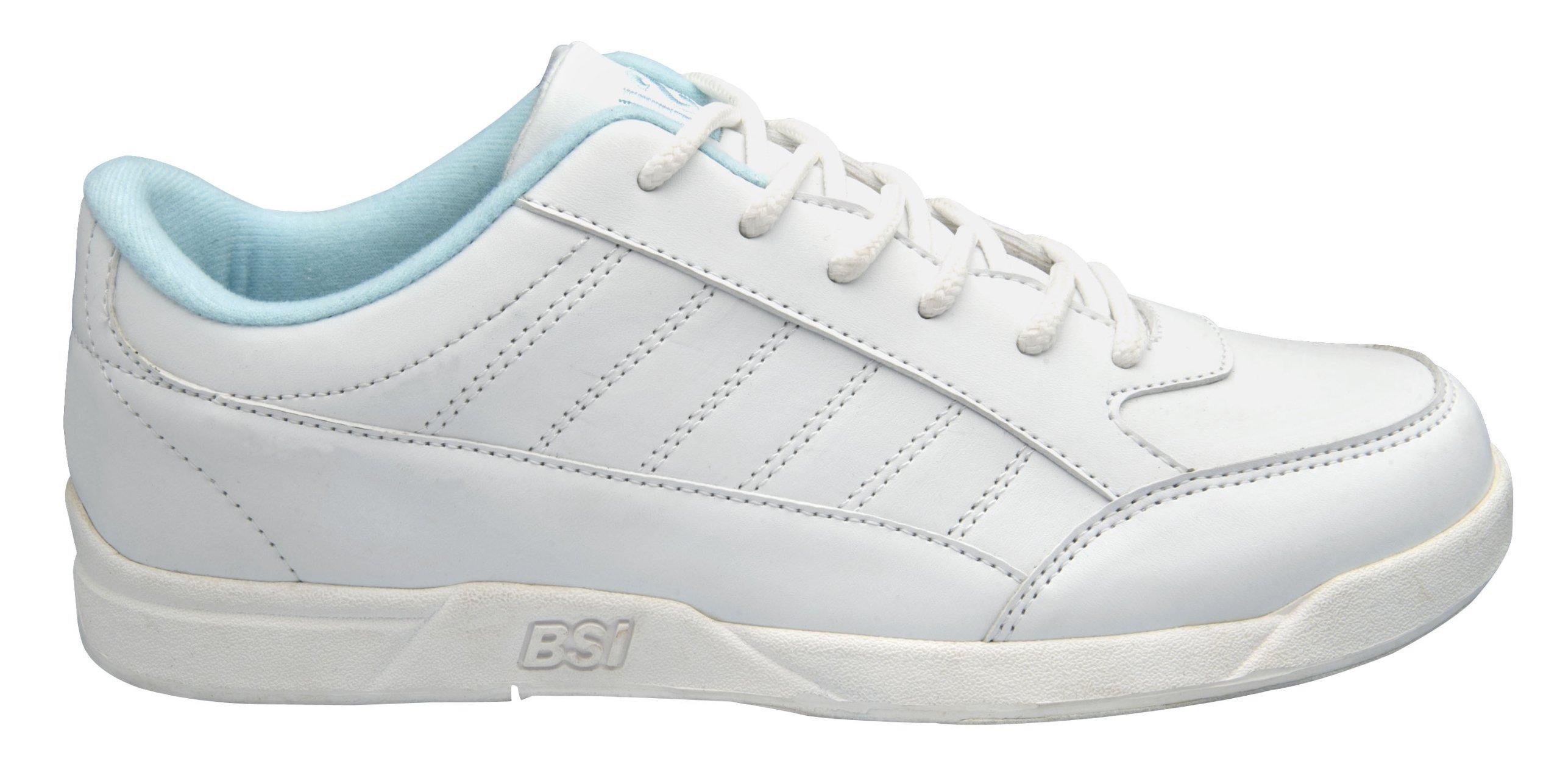 BSI Women's 422 Bowling Shoe, White/Blue, Size 9
