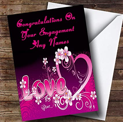 Amazon pink love romantic personalized engagement greetings pink love romantic personalized engagement greetings card m4hsunfo