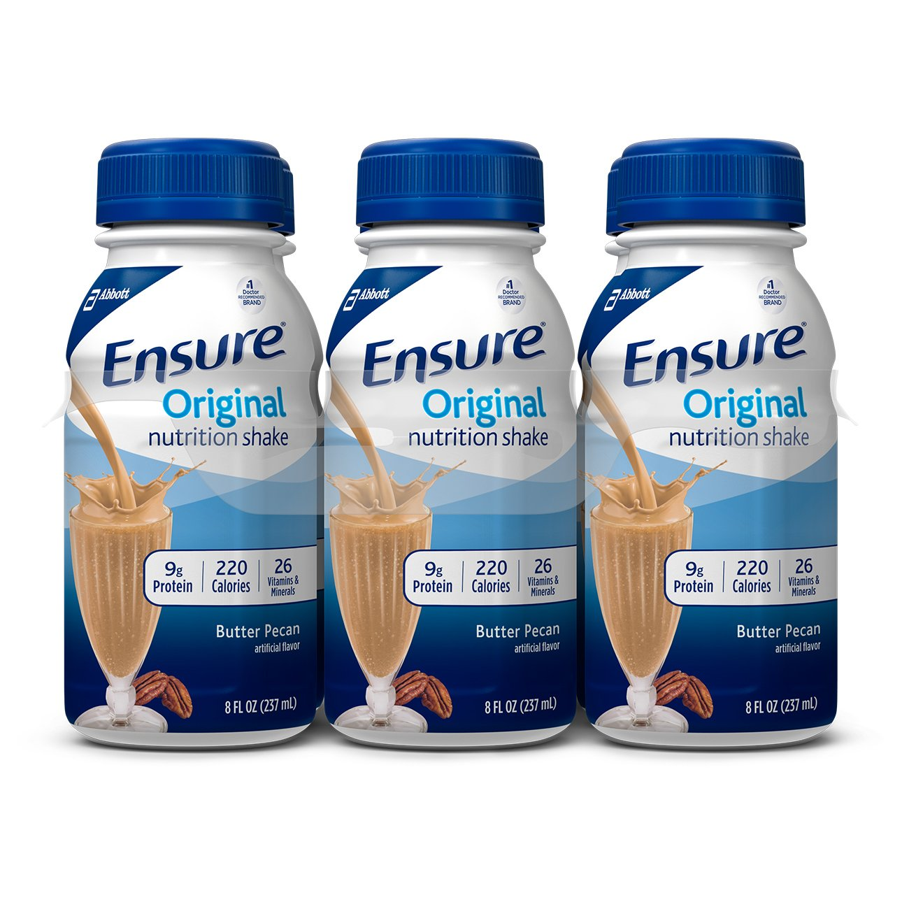 Ensure Original Nutrition Shake, Butter Pecan, 8 ounces, 24 count