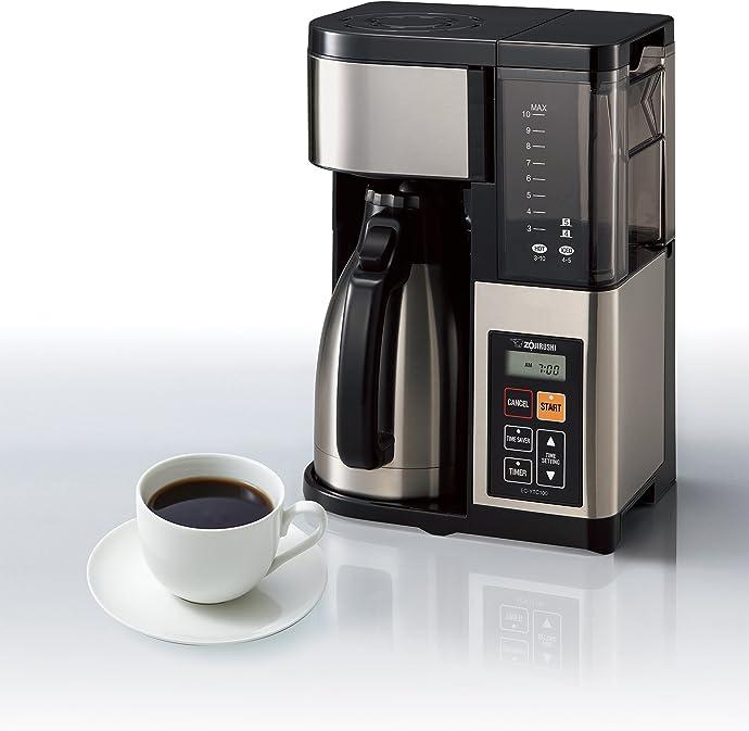 金盒特价 Zojirushi 象印 EC-YTC100XB 咖啡机 带保温咖啡壶 10杯量 6折$104.99史低 海淘转运到手约¥1108