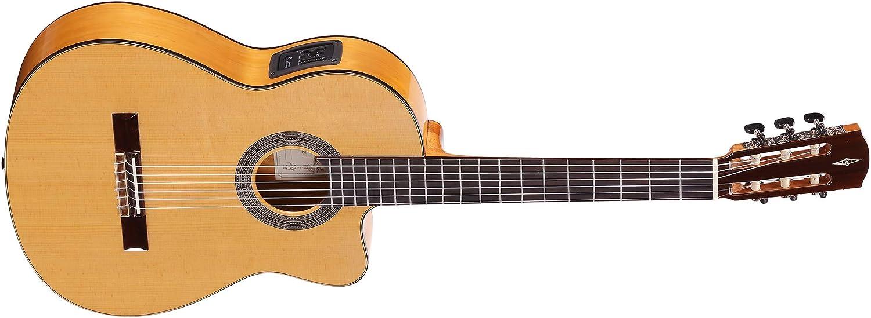 Alvarez CF6CE - Guitarra clásica flamenca de hombro faltante ...