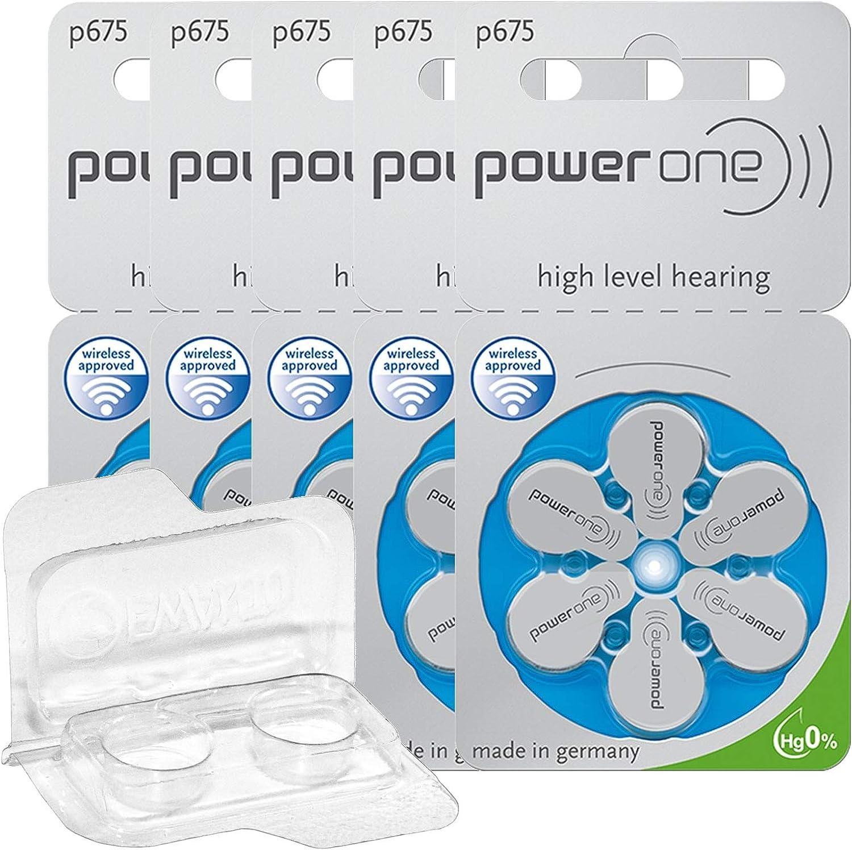 30x Power One 675 Hörgerätebatterien 5x6er Blister Pr44 Blau 24600 Aufbewahrungsbox Für 2 Hörgerätebatterien 10 13 312 675 Batteriebox Für 2 Knopfzellen Bis 12 Mm X 6 Mm Ø X H Drogerie Körperpflege