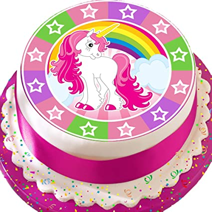 PRECUT Edible Decoration Icing Sheet 75 INCH Cute Mixed Unicorn Birthday Cake Topper N0295 Amazonca Home Kitchen