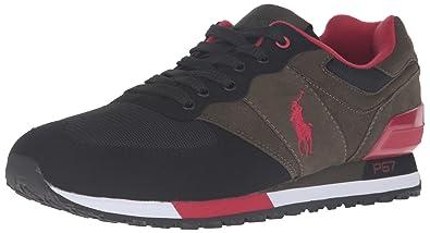 Polo Ralph Lauren Pony Slaton Chaussure de Sport à la Mode - - Brun Noir 25d0aa250fa