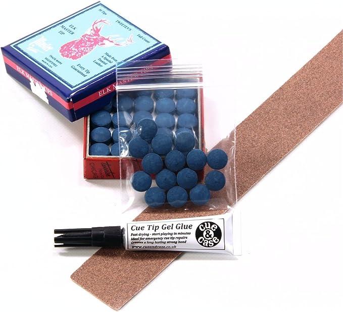 Spitzen Für Snooker Pool Koe Elk Master Leder Inkl Schleifpapier 15 Stück Blau 9 5 Mm Amazon De Sport Freizeit