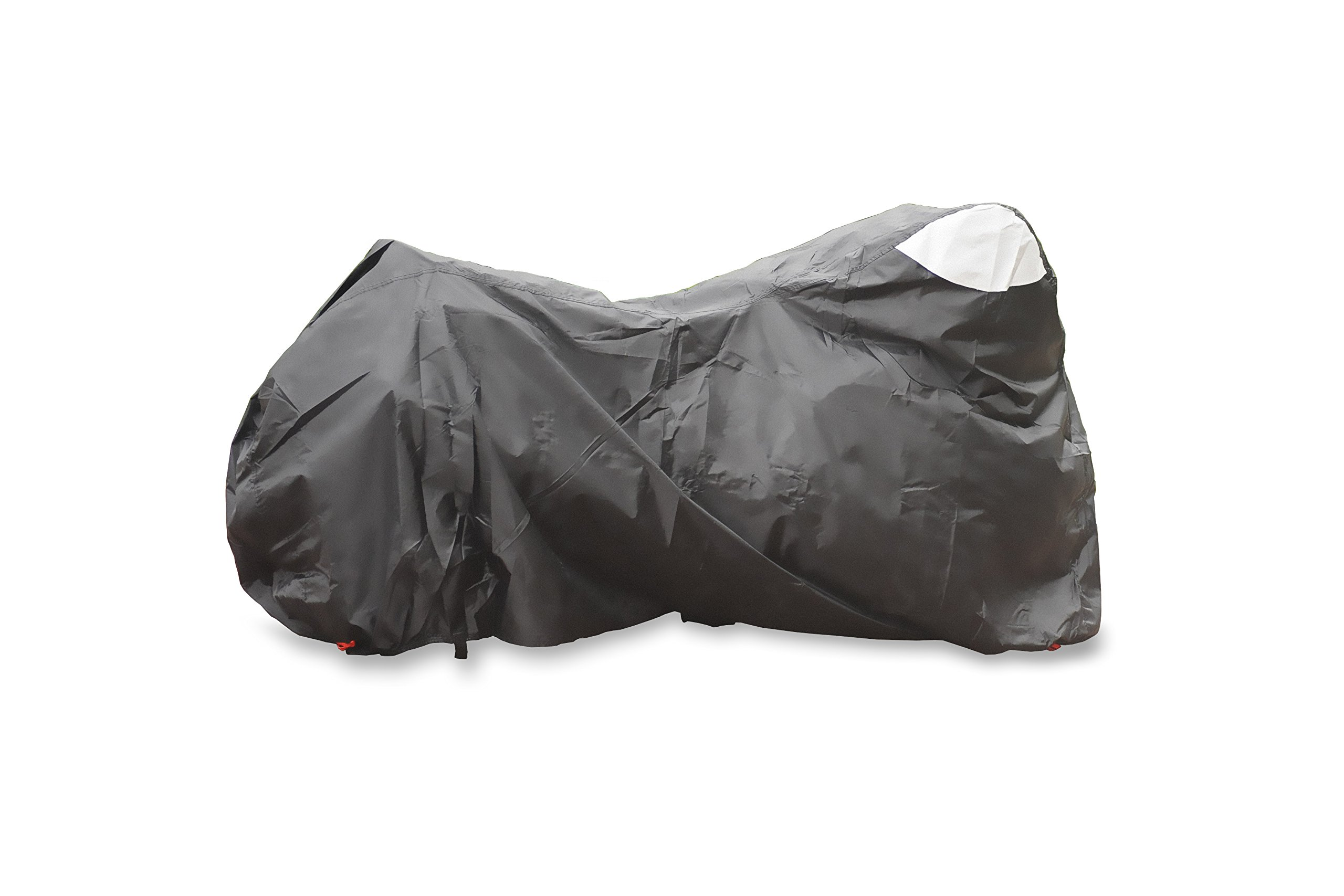 MotionGP Waterproof Outdoor Motorcycle Cover - Made of Durable Material - Fits up to 99'' - Sport and Touring Bikes Compatible - Harley Davidson, Suzuki, Yamaha, Ducati and More - All Weather - Black