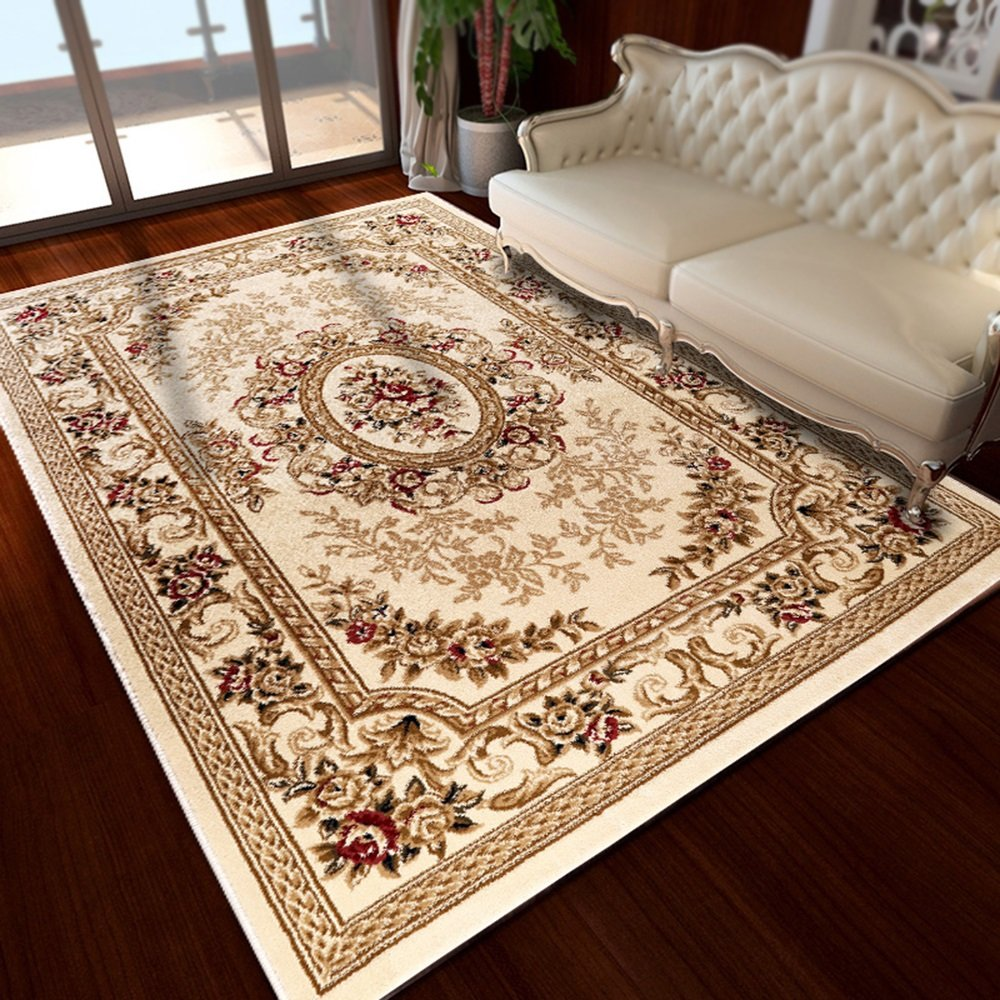Thicker coffee table mats / Continental style living room sofa carpet / bedroom bedside home decoration large carpet ( Size : 160230cm , Style : B )