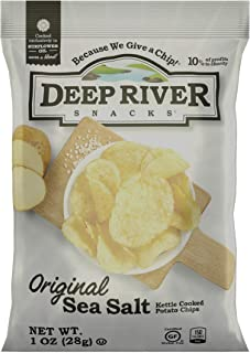 product image for Deep River Snacks Original Sea Salt Kettle Cooked Potato Chips, 1-Ounce (Pack of 80)