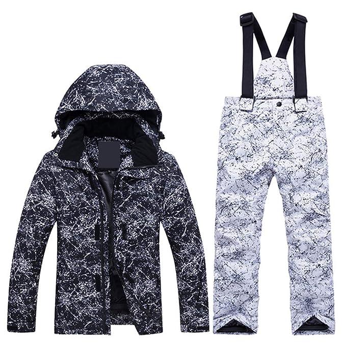 Keamallltd Niños Snow Suit Coats Conjuntos de Trajes de esquí/Ropa de Snowboard para niños Súper Cálido Chaqueta de Invierno + Pantalón con Peto: Amazon.es: ...