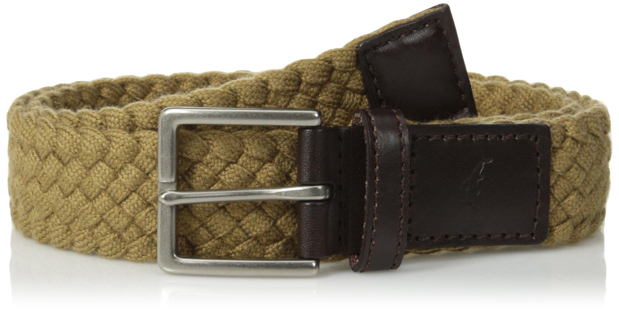 Tommy Bahama Men's 1.5 in. Woven Braided Cotton Belt, khaki, X-Large