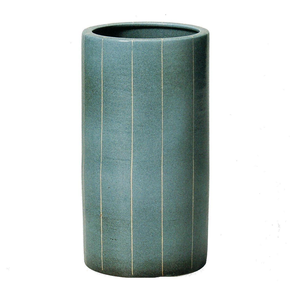 青ライン傘立 (信楽焼き しがらき焼き 陶器 傘立 傘立て 玄関 レインスタンド I) B079QKNYFG