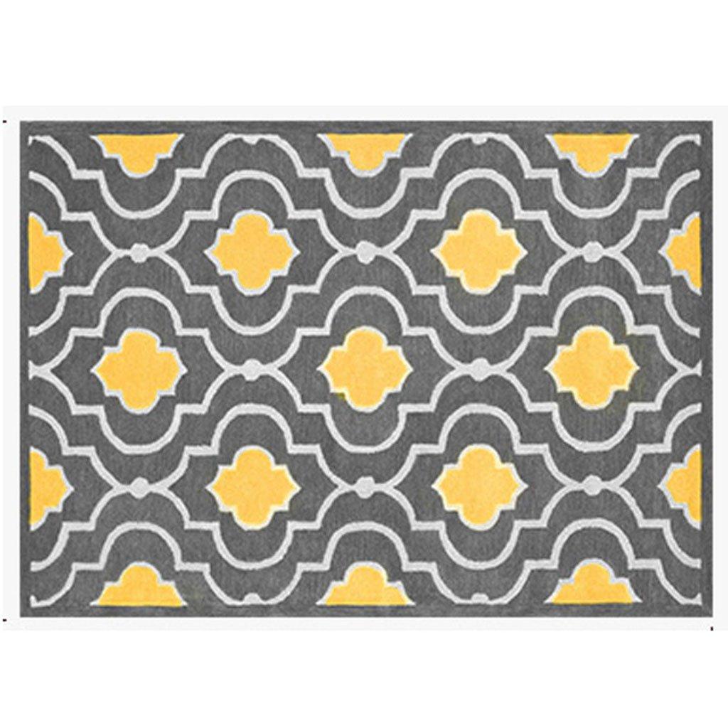 %エリアカーペット 長方形のカーペット、幾何学模様モダンなベッドルーム/リビングルーム黄色のカーペット北欧のスタイルの敷物 カーペット (サイズ さいず : 160*230cm) 160*230cm  B07K66HHNK