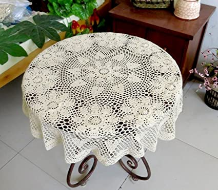 Amazoncom Ourhommie 36 Crochet Round Tablecloth Handmade Lace