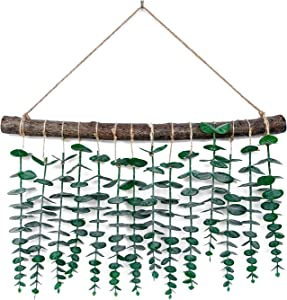 Artificial Eucalyptus Wall Hanging , Eucalyptus Vines and Greenery Wall Décor,Boho Home Decorations for Apartment Bedroom, Living Room ,Kitchen ,Nursery and Bathroom,Wedding Decorations