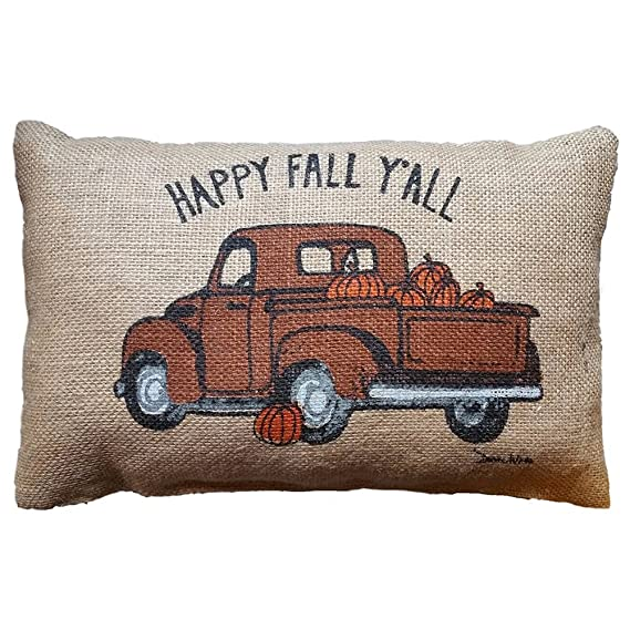 Fossrn Funda Cojin 30 x 50 Happy Fall Yall Halloween Funda de almohada para Sofa Jardin Cama Decoracion