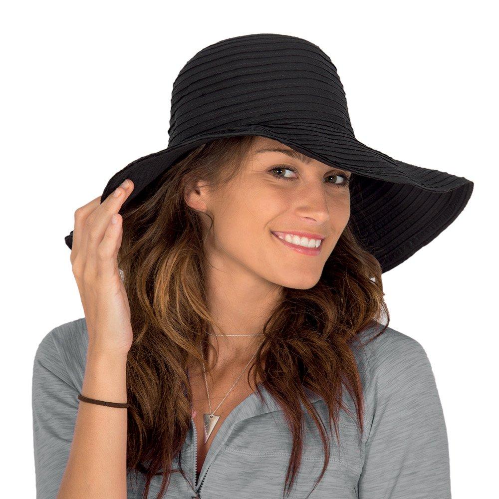 Rigon Headwear Damen Unisex Uv-Schlapphut, Schwarz, M/L (58CM) BD18-SBLK/M-L