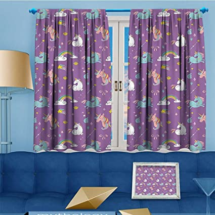 Amazon Com Alsohome 2 Panels Room Darkening Blackout Curtains