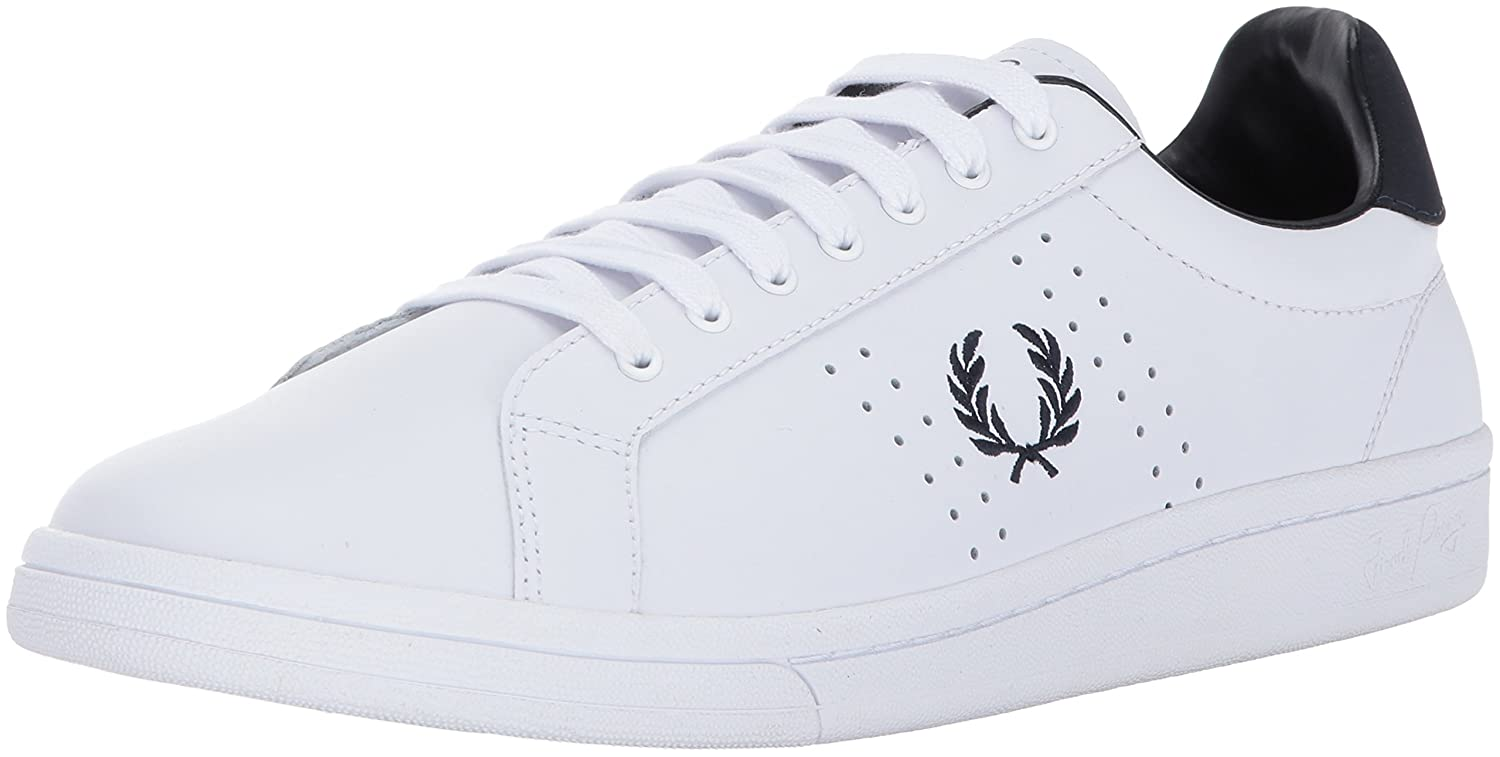 Fred Perry Men's Shoes Leather Trainers Sneakers B721 White