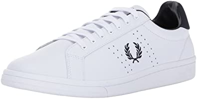 Fred Perry Men's Kendrick Leather Men's White Sneakers In Size 41 White FFTJl