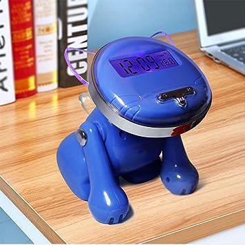 Actim Relojes Despertadores Inteligentes Digitales 12/24 Horas para Habitaciones Infantiles como Reloj Despertador Parlante Lindo Gato, Blue: Amazon.es: ...