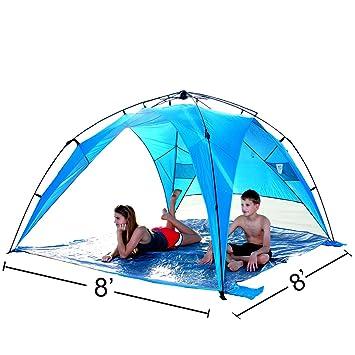 EasyGo Shelter XL - Instant Beach Umbrella Tent Pop Up Easy Up Canopy Sun Sport Shelter  sc 1 st  Amazon.com & Amazon.com: EasyGo Shelter XL - Instant Beach Umbrella Tent Pop Up ...