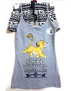 Primark Ladies Girls Womens Disney Lion King Simba cami Vest & Short Set Pyjamas Pajamas Pj