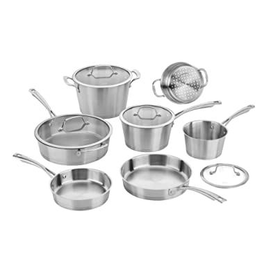 Cuisinart 72IB-11 Conical Stainless 11PC Induction Cookware Set, Silver