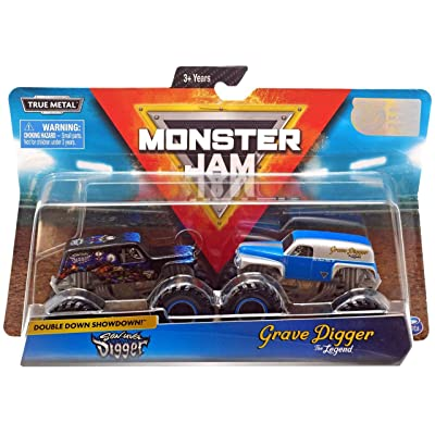 Monster Jam, Official Son-Uva Digger Vs. Grave Digger Die-Cast Monster Trucks, 1: 64 Scale, 2 Pack: Toys & Games