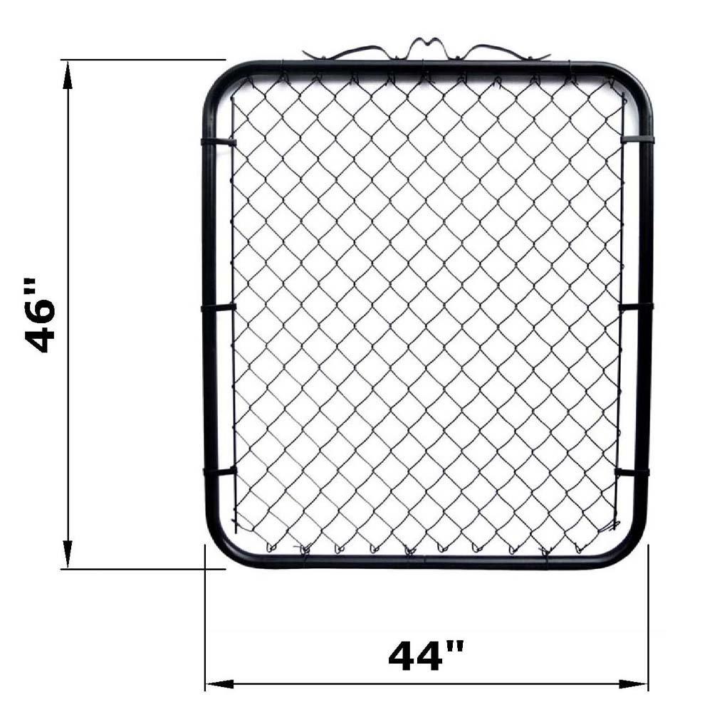MTB Black Coated Chain Link Garden Walking Fence Gate 4 Feet by 4 Feet Opening (44-inch Frame Width), 1 Pack