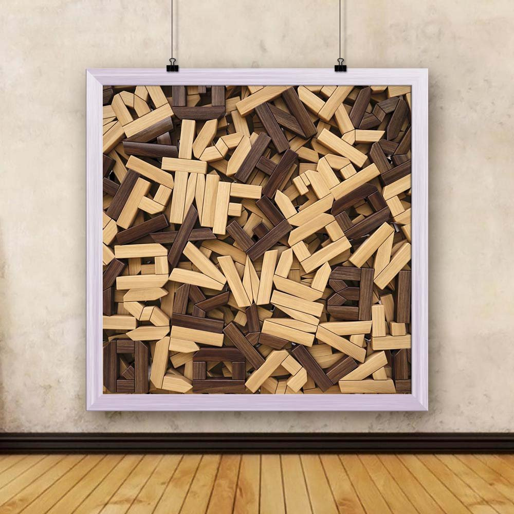 Artzfolio Photo Of Wooden Letters Canvas Painting White Wood Frame