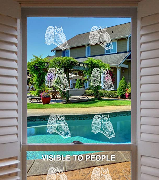 Uv Window Decals Birds Kamos Sticker - Window alert decals amazon