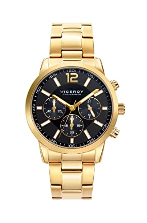 15004558b87e Viceroy Reloj Cronógrafo para Hombre de Cuarzo con Correa en Acero  Inoxidable 471051-95  Amazon.es  Relojes