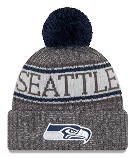 963e85215 Image Unavailable. Image not available for. Color  New Era Seattle Seahawks  Gray Graphite Sport Knit NFL 2018 Beanie ...