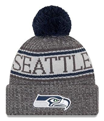 e34e41aa7b3 New Era NFL Seattle Seahawks 2018 Sideline Graphite Sport Knit  Amazon.co.uk   Sports   Outdoors