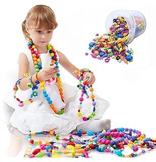 Dmaxia Pop Beads Children DIY Jewelry Building Blocks Making Kit Intelligence Creative Necklace Bracelet Art Crafts