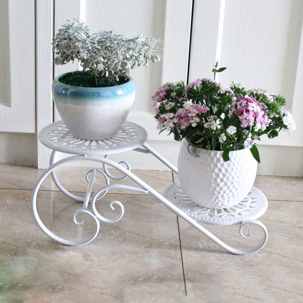 scegli il tuo preferito Rack di fiori fiori fiori multiuso Flower Shelf Fioriera da interno e da esterno con balcone Per interni ed esterni (colore   Bianca)  promozioni eccitanti