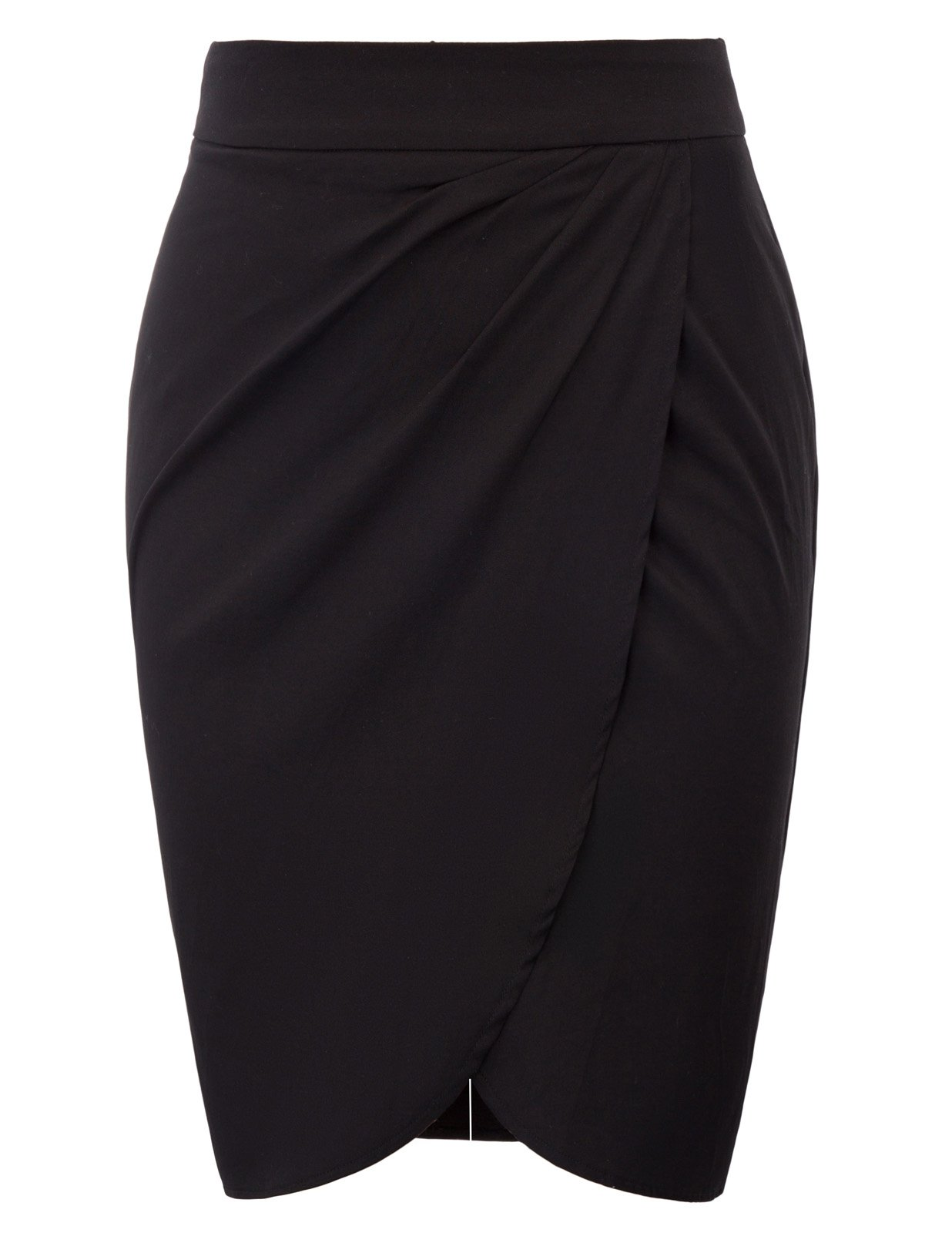 Belle Poque Black Formal Office Work Knee Length Skirts Medium BP598-1