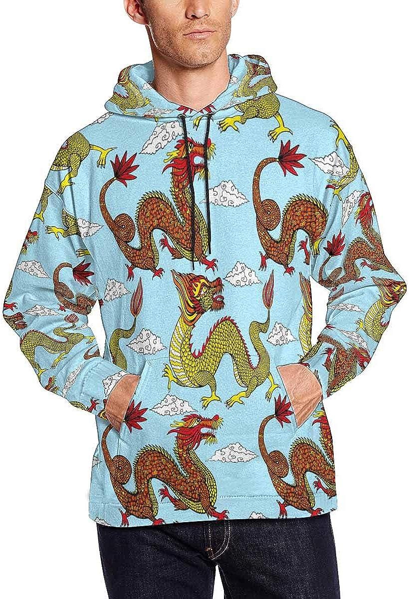 Herons and Lillies Hooded Sweatshirt INTERESTPRINT Mens Summer Swarm Life Cranes