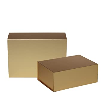 Jillson Roberts 2-Count Small Magnetic Closure Gift Boxes Available in 5 Colors, Metallic